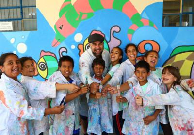 Projeto em Campo Largo usa a arte para transformar